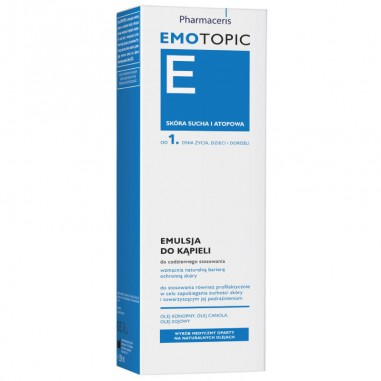 PHARMACERIS EMOTOPIC - Emulsja do kąpieli, 400ml